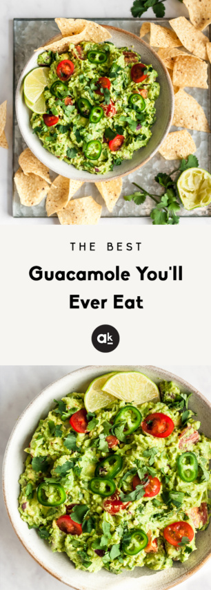 collage of the best guacamole