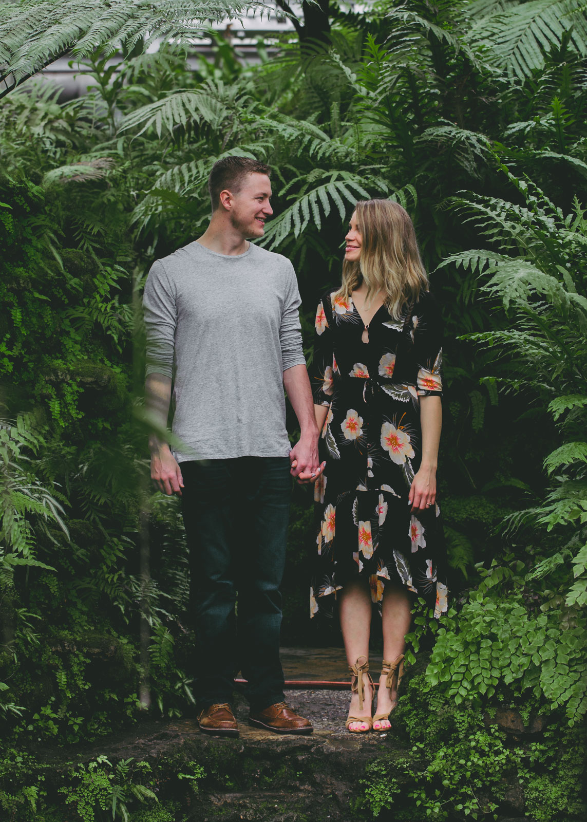 Ambitious Kitchen's Engagement Photos at Garfield Park Conservatory
