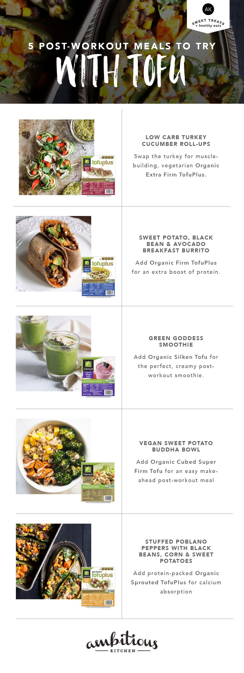 5 Post-Workout Recipes to Try with Tofu graphic