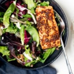 30 Minute Honey Garlic Salmon with Apple Dijon Green Salad