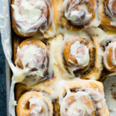 These cinnamon rolls are the BEST IN THE WORLD. Big, fluffy, soft and absolutely delicious. You'll never go back to any other recipe once you try this one!
