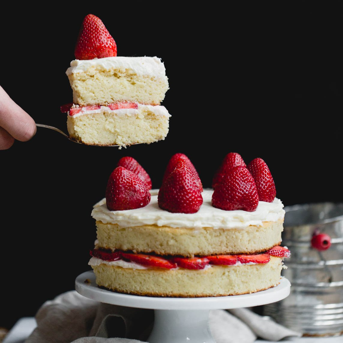 Almond Flour Strawberry Shortcake Cake Gluten Free Ambitious Kitchen