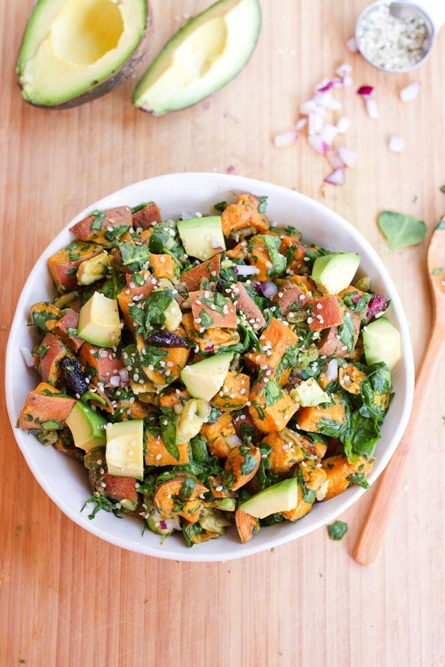 Roasted Sweet Potato Salad from Eating Bird Food
