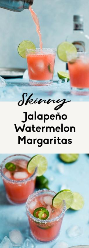 collage of skinny watermelon margaritas