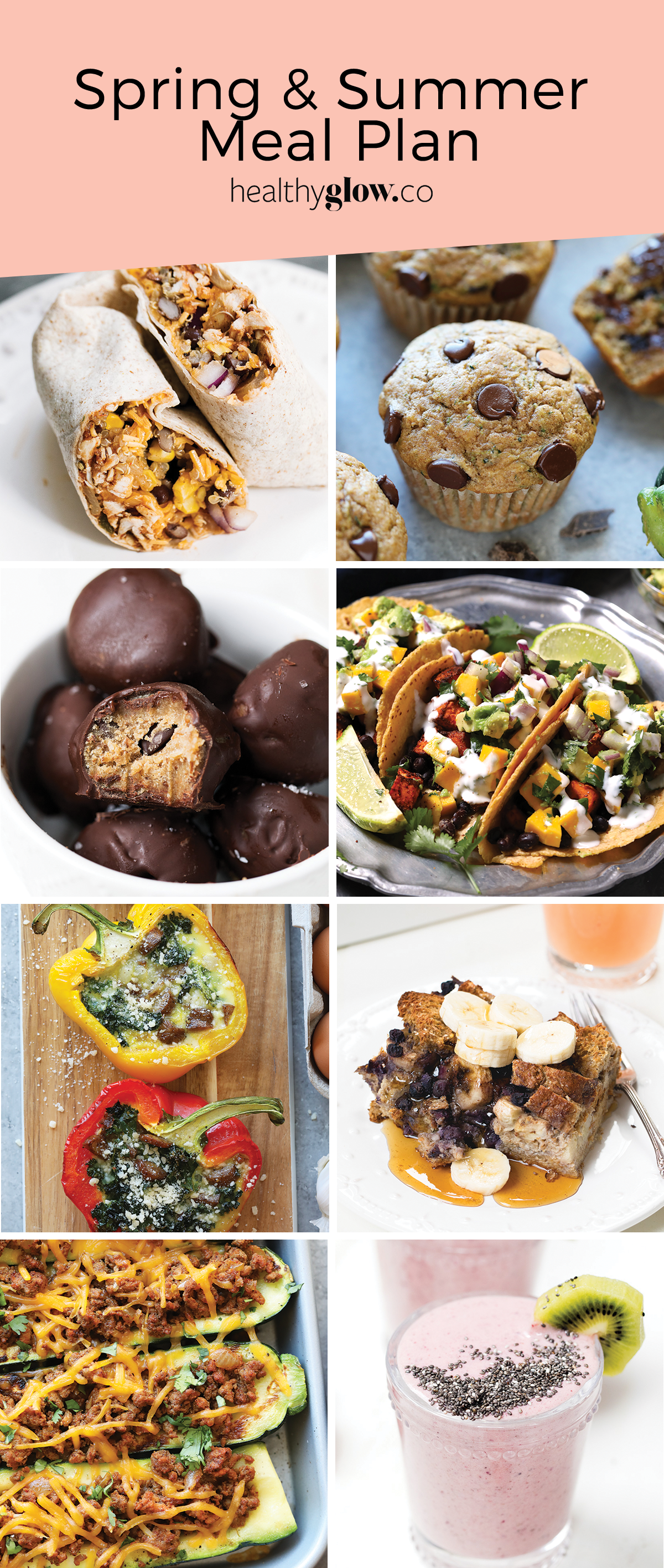 Introducing the Healthy Glow Guide 6 week summer meal plan: fresh tasty meals, grocery lists, nutrition, clean eating staples and so much more!