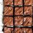 tahini brownies drizzled with chocolate