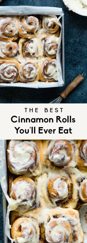 collage of the best cinnamon roll recipe