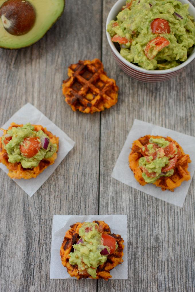 guacamole waffle bites