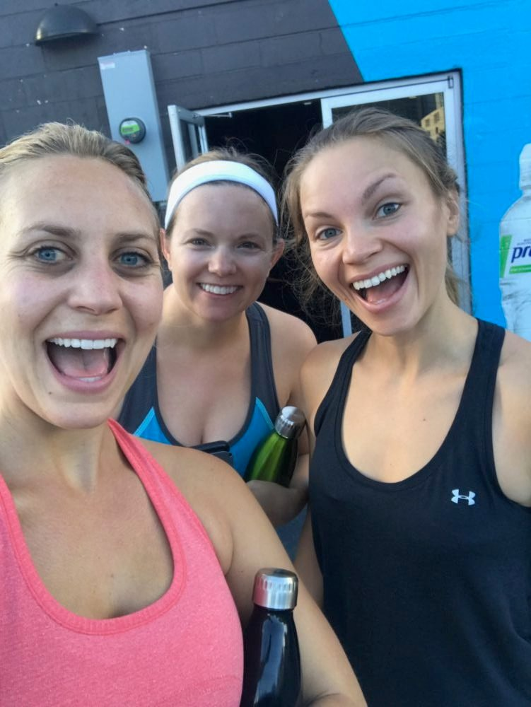 monique, lee and katie about to workout