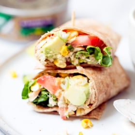 tuna wraps with veggies