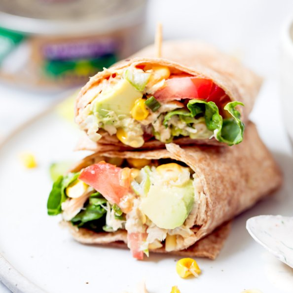 tuna wraps with veggies