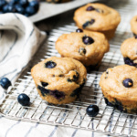Healthier Blueberry Greek Yogurt Muffins