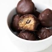 cookie dough truffles in a bowl