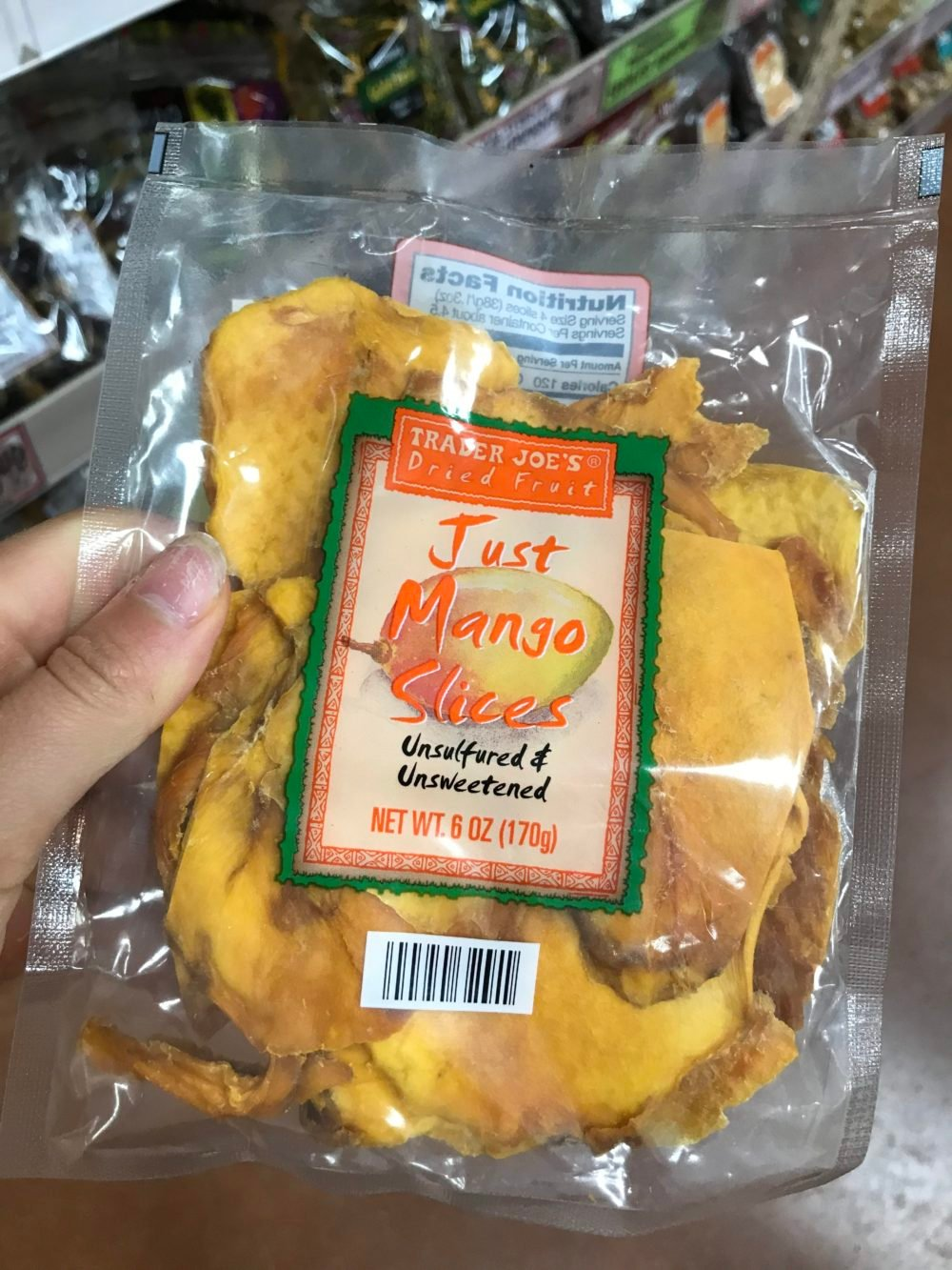 bag of dried mango slices
