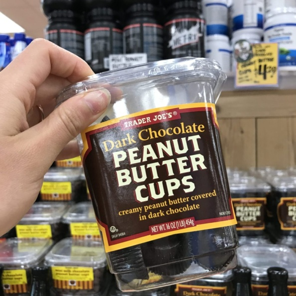 container of peanut butter cups