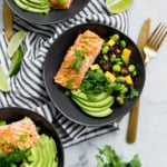 30 Minute Chili Maple Lime Salmon Bowls with Forbidden Rice