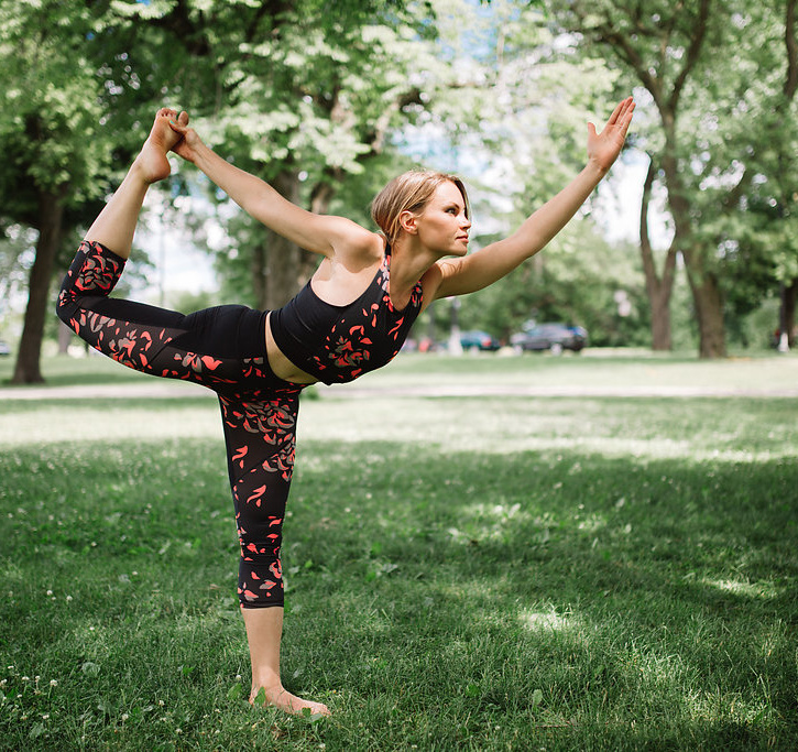 Yoga pose -- dancer