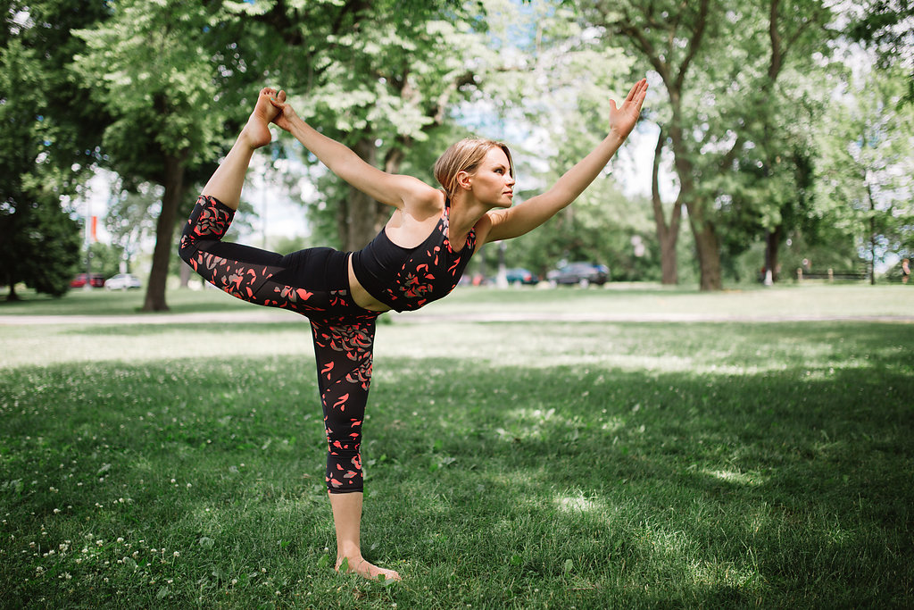 Yoga pose -- dancer