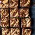 Paleo Zucchini Banana Bread Bars with a chocolate drizzle