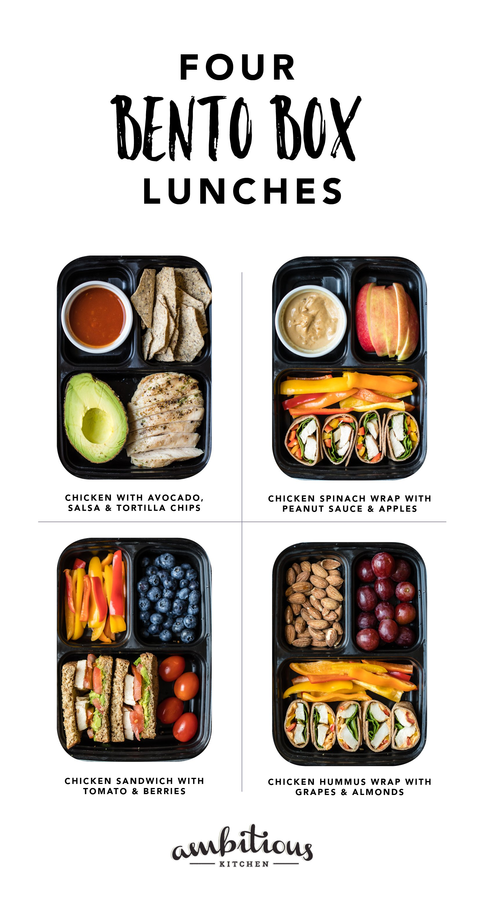 4 Easy Protein Packed Bento Boxes | Ambitious Kitchen