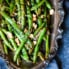 Thai Green Beans on a silver platter