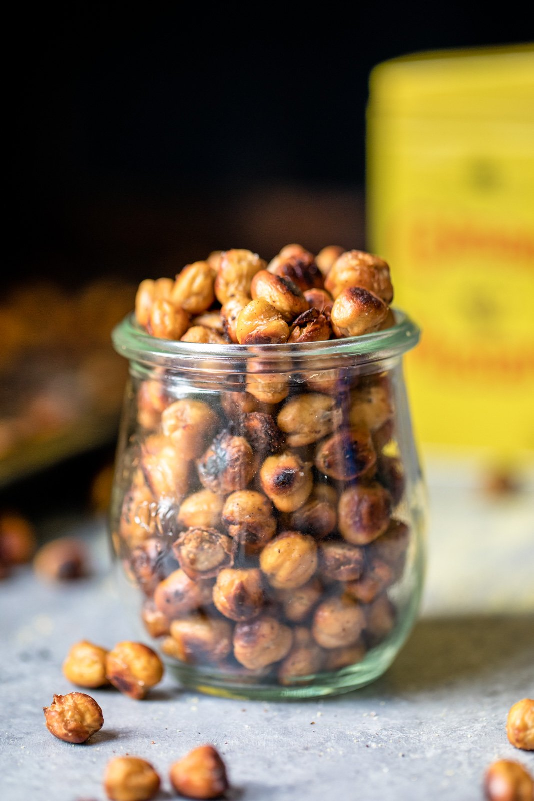 Protein-packed chickpea recipes: roasted chickpeas in a jar