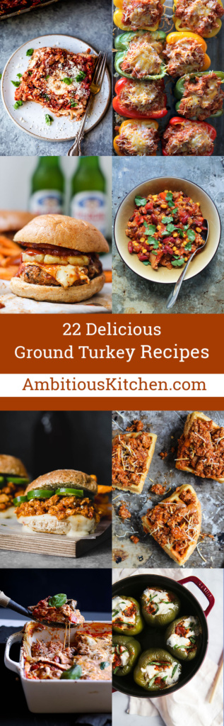 This week I rounded up 22 delicious ground turkey recipes for your dinner menu. Savory, flavorful, and perfect for pairing with your favorite veggie sides!