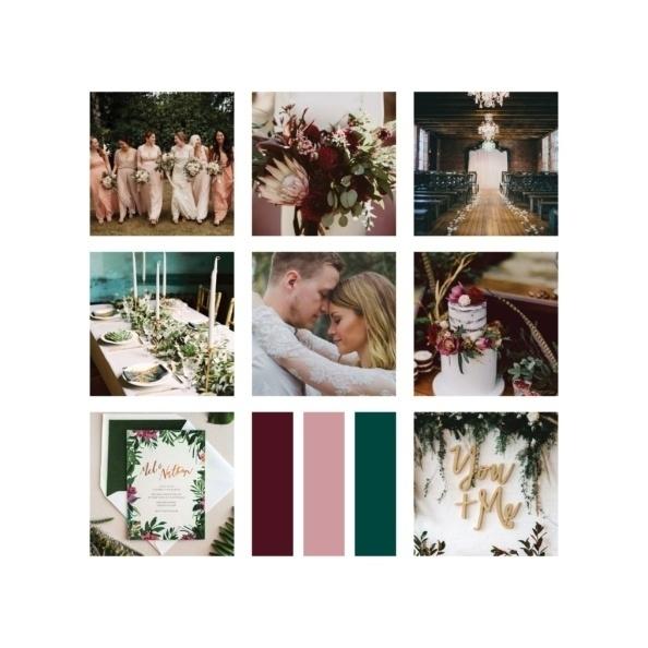 wedding moodboard collage