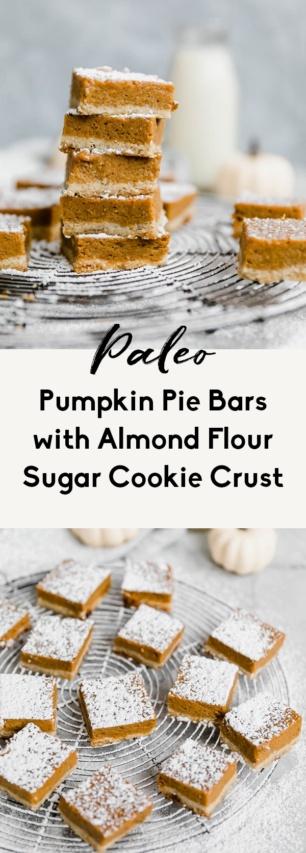 collage of paleo pumpkin pie bars