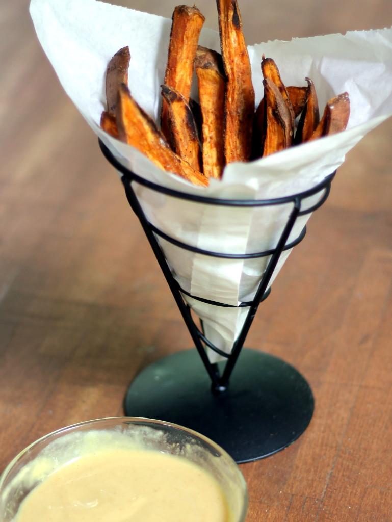 sweet potato fries in a basket