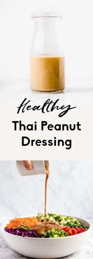 collage of thai peanut dressing