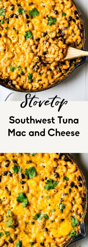 southwest tuna mac and cheese collage