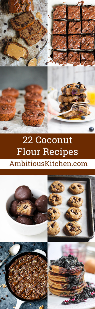 22 coconut flour recipes that make the best treats! From sweet breakfasts to chocolatey desserts, these are guaranteed crowd-pleasers!
