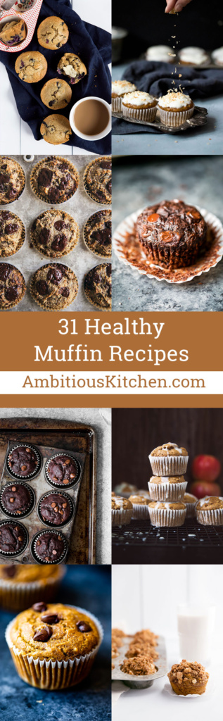 These 31 healthy muffin recipes are perfect for breakfast or an afternoon snack. Fluffy and packed with goodness - share them with your loved ones!