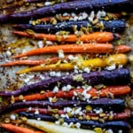 Maple Glazed Carrots with Goat Cheese & Pistachios