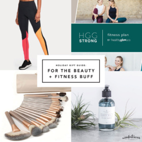 gym gift guide collage
