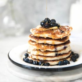 pancakes in a stack