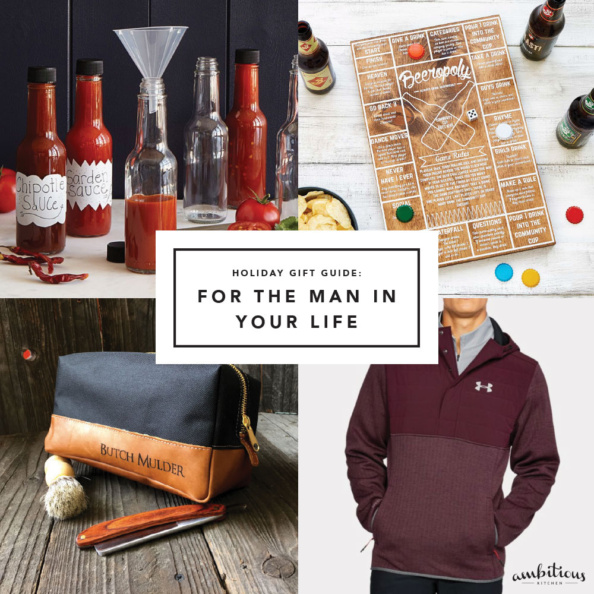 collage of gifts for men