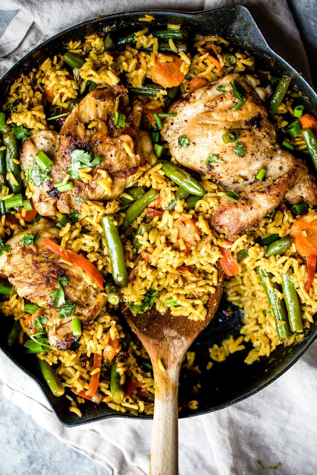 Weekend favorites: One Pan Thai Coconut Yellow Curry Chicken and Rice