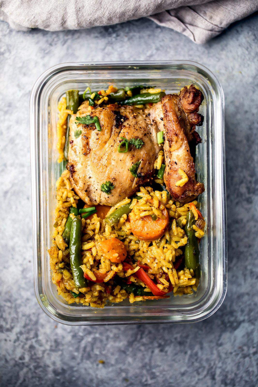 32 healthy dinner recipes that are perfect for meal prep ambitious chicken vegetables and rice in a glass container forumfinder Images