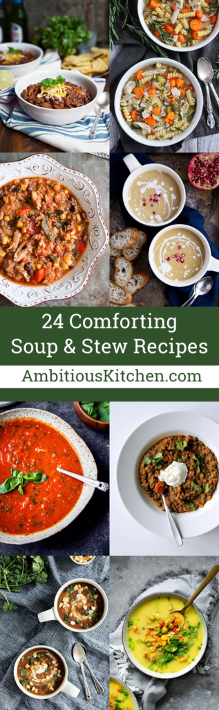 There's nothing better than warm recipes to enjoy during the winter months. That's why I rounded up 24 comforting soup & stew recipes to enjoy all season!
