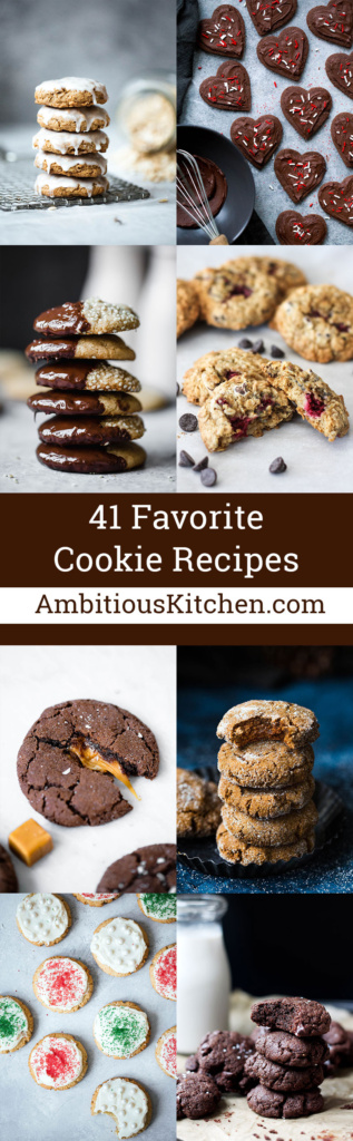 I rounded up 41 of our favorite cookies recipes that are a must-make! From chocolate chip to gingerbread - there's a cookie for everyone in here.