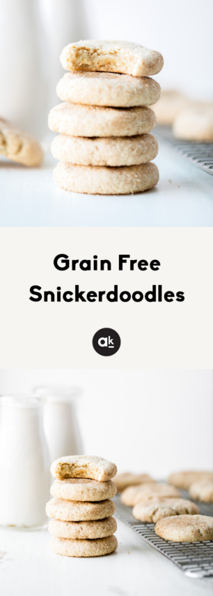 collage of grain free snickerdoodles