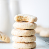 grain free snickerdoodles in a stack