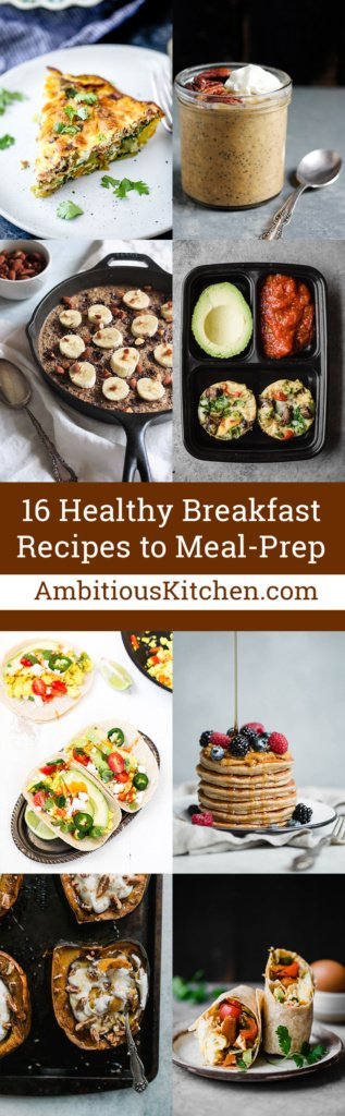 16 Healthy Breakfast Recipes That Are Perfect For Meal Prep