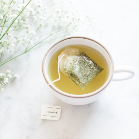 cup of tea with a tea bag