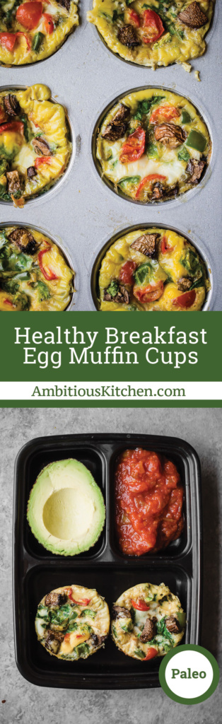 DIY healthy breakfast egg muffin cups using whatever veggies you have in your fridge. They're easy to make & perfect for reheating throughout the week!