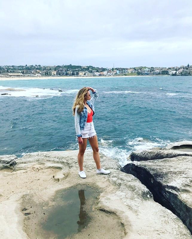 monique on cliffs overlooking the ocean