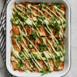 Vegan Butternut Squash Black Bean Enchiladas with Jalapeño Cashew Crema
