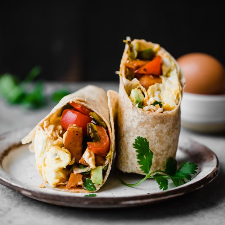 Freezer friendly breakfast burritos that are both packed with nutritious veggies and protein for the ultimate on the go breakfast! Tip: make them ahead and reheat later.